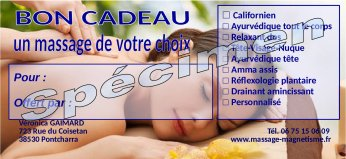 Massages de relaxation, de détente, réflexologie plantaire, magnétisme Pontcharra